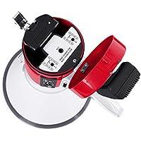 Megáfono - Fonestar MF-600SGU, 25W, Sirena, USB, Grabadora, Blanco y Rojo