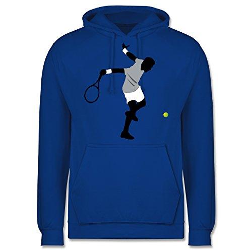 Tennis - Tennis Squash Spieler - Männer Premium Kapuzenpullover / Hoodie Royalblau
