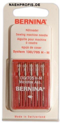 BERNINA Microtex-Nadeln, Stärken 60-80, für Microfaser und Seide