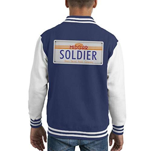 Cloud City 7 Final Fantasy Midgar Soldier License Plate Kid's Varsity Jacket