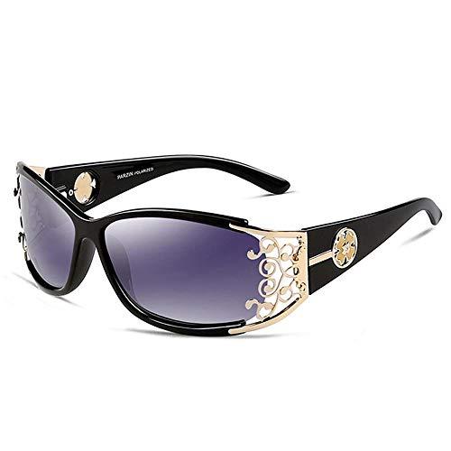 ZHOUYF Sonnenbrille Fahrerbrille Retro Sonnenbrille Damen Polarisierte Damen Sonnenbrille Damen Durchbrochene Spitze Weibliche Gläser Fahren, A