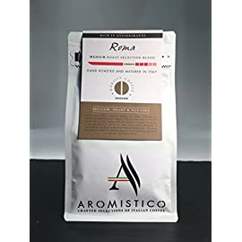 AROMISTICO | Finest Smooth Aroma Medium Roast | Premium Italian Roasted Whole COFFEE BEANS | ROMA BLEND For Pour-Over…