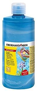 Eberhard Faber 578792 - Pintura de Dedos en la Botella, 500 ml, Perla / Azul