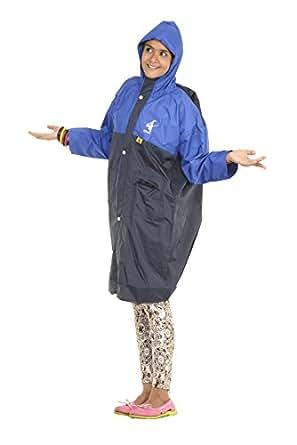 Allwin Kid Polyester Raincoat (P1140_Navyblue_34 _Blue _34)