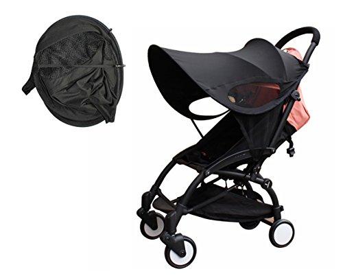 Kinderwagen Sun Ray Shade Pram UV Schutz Abdeckung, Wetterschutz, Universal, Baumwolle LYCRAR für Infant Kinder-4 Farben, schwarz Universal Pop-up-shade