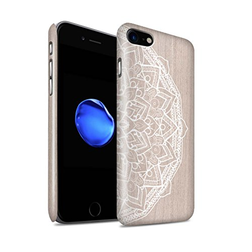 STUFF4 Glanz Snap-On Hülle / Case für Apple iPhone 5C / Bambus Muster / Fein Spitzenborte Holz Kollektion Mandala