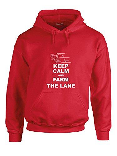 Keep Calm and Farm the Lane, League of Legends inspiré, Video Games, Imprimé Sweat à capuche - rouge/blanc M= 96/101 cm