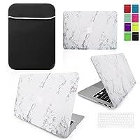 Carcasa para ordenador y funda de teclado de neopreno por LOVE MY CASE.  blanco MARBLE WHITE 13 -inch MacBook Air