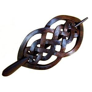 ISLAND PIERCINGS Haarspange Handarbeit aus Holz HS08
