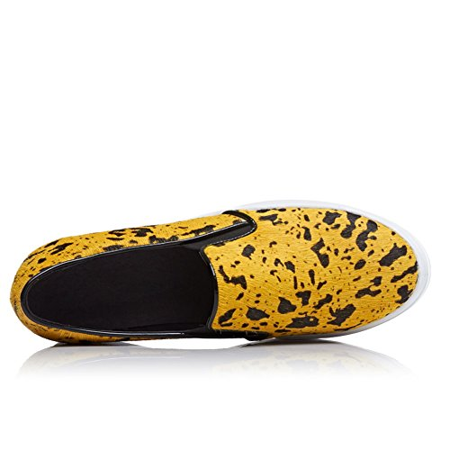 Unknown 1to9 1to9mms05378 - Sandales Compensées Pour Femmes Yellow