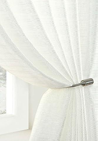 """Bijoux sont en voile panneau de rideau blanc taille toutes les tailles CE Panneau:, 100% polyester/polyester, Blanc, 290x120cm/114x47"""""""