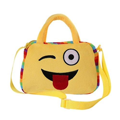 Imagen de goodsatar goodsatar lindo emoji emoticono escuela de hombro bolso del niño  bolsa bolso de la  f1