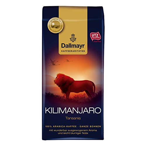 Dallmayr Kilimanjaro Tansania, Kaffee Raritäten, Bohnenkaffee, Röstkaffee, ganze Bohnen, Kaffeebohnen, 250 g