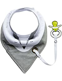 EOZY Infant Baby Waterproof Layer Cotton Towel Bib Buttons Saliva Towels