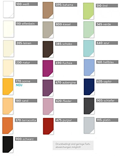Estella Mako Jersey Nackenrolle Bezug in 25 Uni Farben 15x40 in schiefer