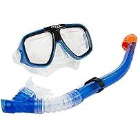INTEX - Tubo y máscara buceo policarbonato reef rider + 8a (55948)