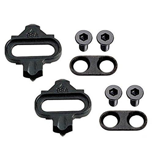 Wellgo 98A - Set di tacchette per Scarpe da Ciclismo, compatibili con Tutte Le Scarpe Standard SPD e i Pedali Shimano MTB SPD