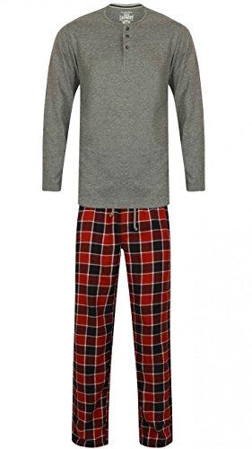 Tokyo Laundry Herren Schlafanzug Mid Grau Marl