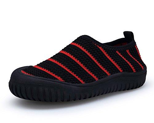 Bdawin Kinder Jungen Mädchen Baby Turnschuhe Schlüpfen Atmungsaktiv Sneaker Schuhe für Gehen Laufen,59 Black EU23