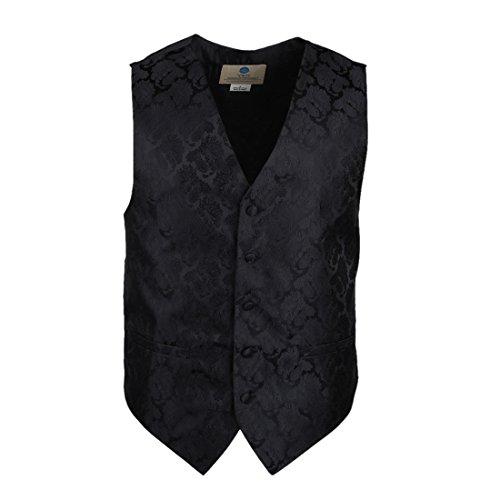 YGB1B03 Multi Paisleys Mens Geschenke Westen Manschettenkn?pfe Taschentuch ??Ascot Krawatte Set Von Y&G VS2010-Schwarz
