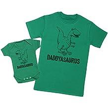 Daddysaurus & Babysaurus - regalo para padres y bebés en un cuerpo para bebés y una
