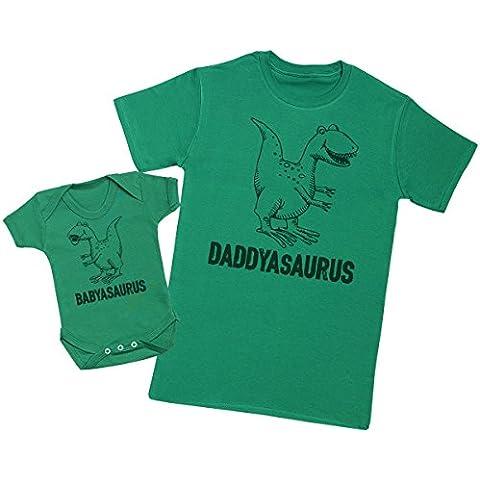 Daddysaurus & Babysaurus - Camiseta del papá y Bebé Niño Niñas Bodies