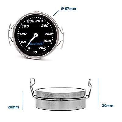 Lantelme Grillrost Thermometer Edelstahl Temperatur 0 bis 450 °C Analog Grillgitter Grill Zubehör 7730