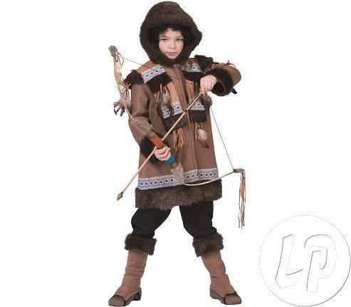 Generique - Eskimo-Kostüm für Kinder 116 (6-7 - Weiße Kostüm Eskimo