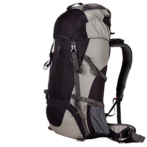 60L Im Freien Bergsteigen Taschen Reißfeste Wasserdichte Wanderrucksack Mit Großer Kapazität,Orange60L Black60L