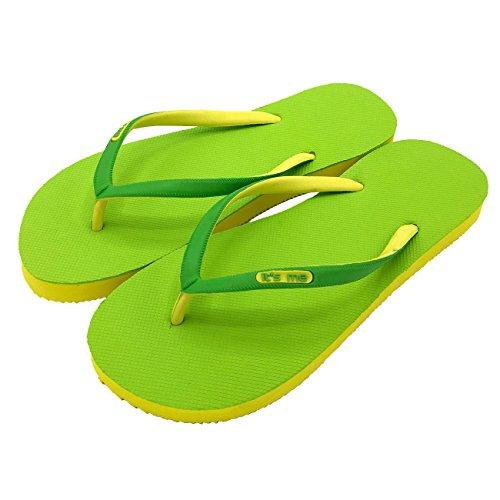 its me It´s Me | Flip Flop | Jetzt Aus Natur-Kautschuk | 0% PVC | Rutschfest und Weich | gesundheitlich unbedenklich | Kautschuk Passt Sich der Form Deines Fußes An | Fühle Den Unterschied ! hellgrün / gelb