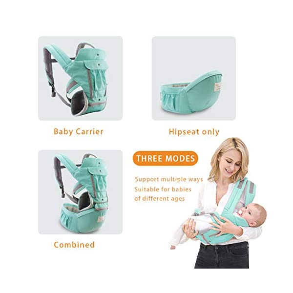 SONARIN 3 in 1 Multifunction Hipseat Baby Carrier,Front and Back,100% Cotton,Ergonomic,Easy Mom,Adapted to Your Child's Growing, 100% Guarantee and Free DELIVERY,Ideal Gift(Red) SONARIN Applicable age and Weight:0-36 months of baby, the maximum load:36KG, and adjustable the waist size can be up to 47.2 inches (about 120 cm). Material:designers carefully selected soft and delicate Cotton fabric. Resistant to wash, do not fade, ensure the comfort and breathability, Inner pad: EPP Foam,high strength,safe and no deformation,to the baby comfortable and safe experience. Description:Scientific 35°, the baby naturally fits the mother's body, safe and comfortable.Patented design of the auxiliary spine micro-C structure and leg opening design, natural M-type sitting.H-type bridge belt, effectively fixed shoulder strap position, to prevent shoulder straps fall, large buckle, intimate design, make your baby more secure. 7