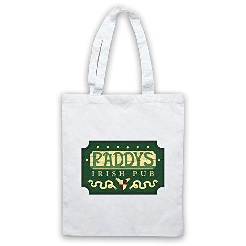 Inspiriert durch It's Always Sunny In Philadelphia Paddys Irish Pub Sign Inoffiziell Umhangetaschen Weis
