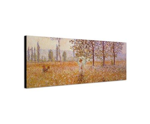 Claude _ Monet _ 041_ (Poplars _ in _ the _ Sun, _ 1887) _ 150x 50cm _-Quadro da parete su stampa artistica su tela dal dipinto originale alte Meister-14al 18secolo Meister opere del tempo storia