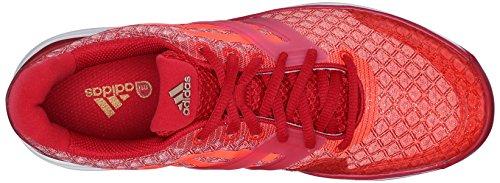 Adidas Performance Adizero Ubersonic W Formazione scarpe, shock pink / bianco / semi solare Slime, 5 Power Red/Solar Red/White