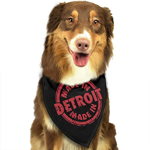 Rghkjlp Made in Detroit Pet Scarf Pet Bib Triangle Scarf Accessories for Dogs Cats -
