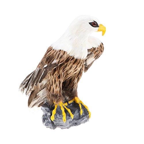 MagiDeal 1 Stück Kunststoff lebensechte Wildtiere Spielzeug Dekoration für Kinder Geburtstag Party werbegeschenk - Adler
