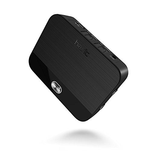 Bluetooth Transmitter, Adapter und Empfänger (aptX Low Latency), HAVIT 2-In-1 Bluetooth V4.1 Audio Sender und Receiver, digitales optisches Audiokabel TOSLINK und 3,5mm Audiostecker (Black)
