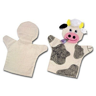 Beleduc Arts & Crafts Handpuppen Baumwolle, 24er-Set - Baumwoll-Handpuppen zum Bemalen