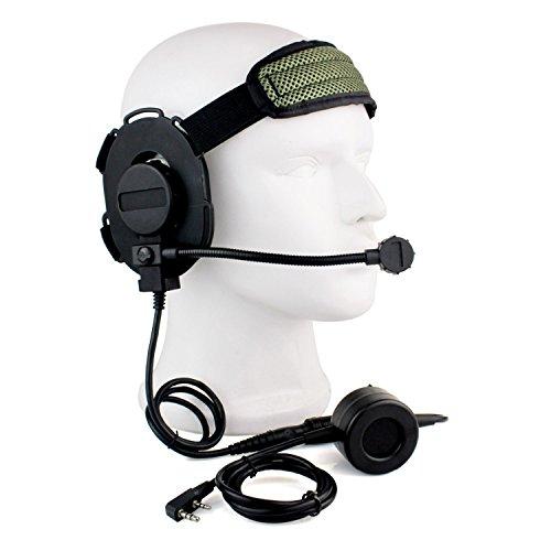 HD03Z TACTICAL Bowman Elite II Headset mit wasserdicht PTT rechts/links Ohr für Kenwood 2Pin Radio
