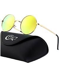 8aac66326f11da CGID E01 lunettes de soleil polarisées inspirées du style retro vintage  Lennon en cercle métallique rond