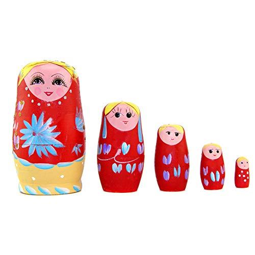 RAILONCH Matroschka Holzspielzeug Handwerk Geschenk Russische Puppen Nesting -