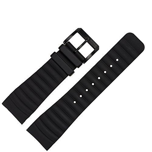 HUGO BOSS Uhrenarmband 24mm Silikon schwarz original - Ersatzarmband passend für Uhrenmodelle 1512639, 1512742 & 1512743 - original Ersatzteile exklusiv von Marburger