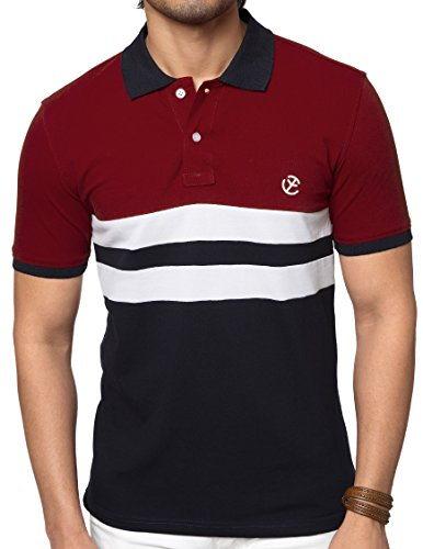 Zeyo Classic Polo T Shirts for Men with Collar 2-Block Regular Fit...