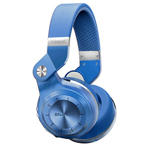 Bluedio Turbine 2 Shooting Brake T2SLCA001 - Bluetooth wireless headset with foldable microphone, blue