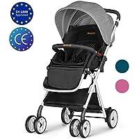 Besrey Cochecito de bebe plegable Carrito de bebe Silla de paseo 6-36 meses Max 15 kg seguridad ECE