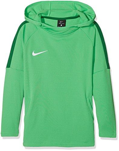 Nike Jungen Dry Academy18 Football Hoodie Pullover,Grün (Light Green Spark/Pine Green/Pine Green/Wh), L