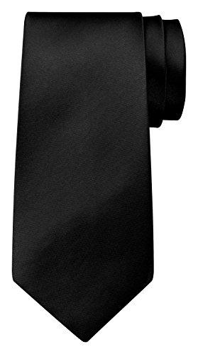 BomGuard Krawatte für Herren schwarz I Männer Krawatte schwarz,rotetc. für Hochzeit, Party oder edele Anlässe I Trendy Tie I -
