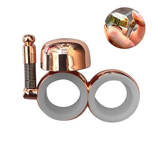 Joizo 1pc Glocke Petticoat Glocke Hand Licht Wearable Bell für Walkers Lehrer Ausbilder und Motorradfahrer (pink Gold) -