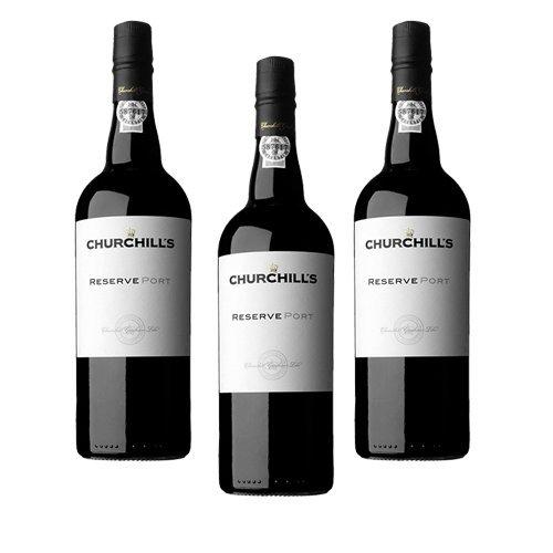 Portwein Churchills Reserve - Dessertwein - 3 Flaschen