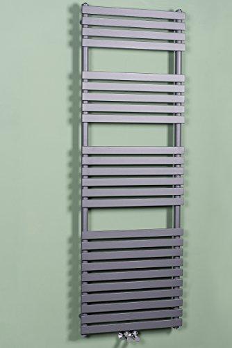 Designer Handtuchheizkörper Badheizkörper 1810x600mm Grau